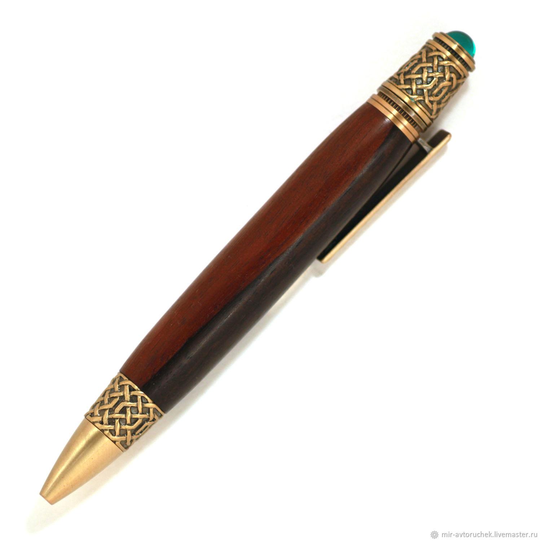 Карандаши, ручки ручной работы. Ярмарка Мастеров - ручная работа. Купить Авторучка 'Кельтская' Macassar Ebony. Handmade. Подарок