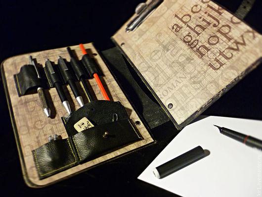 Блокноты ручной работы. Ярмарка Мастеров - ручная работа. Купить Артбук, скетчбук, пенал.. Handmade. Черный, арт блокнот