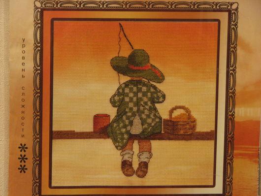 """Вышивка ручной работы. Ярмарка Мастеров - ручная работа. Купить Набор для вышивания крестиком """"Рыбалка"""" от фирмы """"PANNA"""". Handmade."""