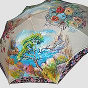 """Аксессуары ручной работы. Ярмарка Мастеров - ручная работа """"Впечатление. Impression"""" женской зонт с ручной росписью на заказ. Handmade."""