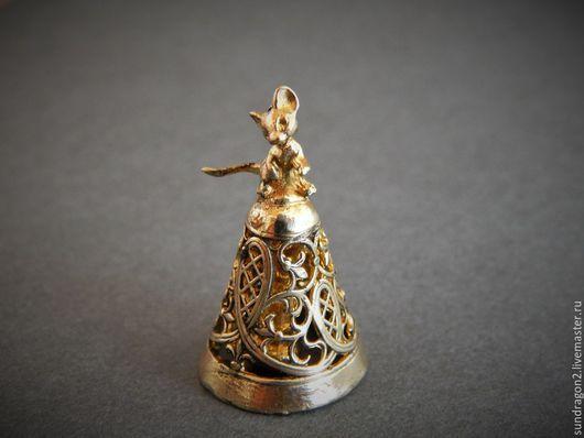 """Колокольчики ручной работы. Ярмарка Мастеров - ручная работа. Купить колоколькик """"Мышонок"""" бронза. Handmade. Колокольчик, авторский колокольчик"""