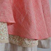 """Одежда ручной работы. Ярмарка Мастеров - ручная работа Юбка из льна """"Шток-роза"""". Handmade."""