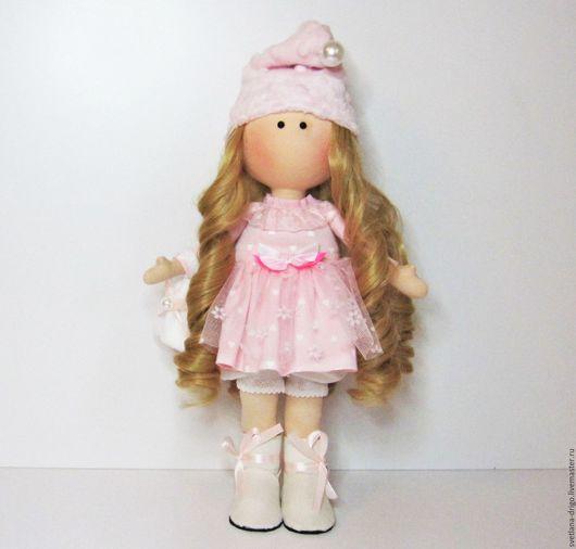 Коллекционные куклы ручной работы. Ярмарка Мастеров - ручная работа. Купить Куколка Сонечка. Handmade. Бледно-розовый
