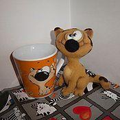 Куклы и игрушки ручной работы. Ярмарка Мастеров - ручная работа Кот Кружечкин. Handmade.