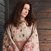 "Одежда ручной работы. Ярмарка Мастеров - ручная работа ""Sweater. Bolero. Kimono. Plaid."" Felted Sweater. Бежевый. Handmade."