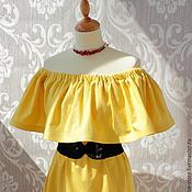 """Одежда ручной работы. Ярмарка Мастеров - ручная работа Платье """"Жёлтая роза"""". Handmade."""