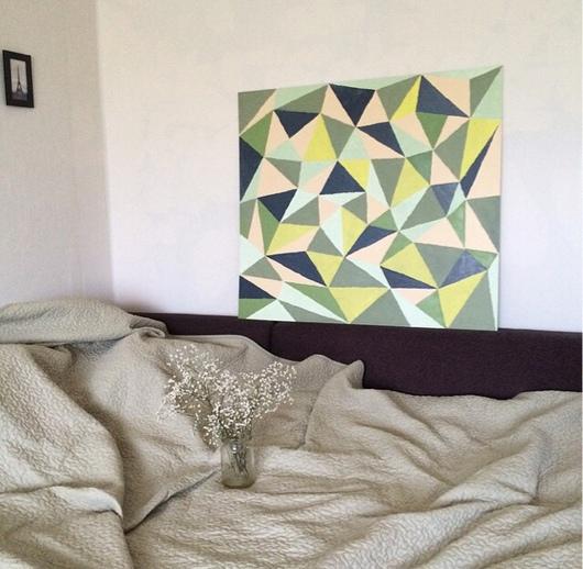 """Абстракция ручной работы. Ярмарка Мастеров - ручная работа. Купить Картина маслом """"Треугольники"""". Handmade. Картина, масло, абстракция, большой размер"""