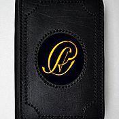 Канцелярские товары ручной работы. Ярмарка Мастеров - ручная работа обложка  кожа на автодокументы или паспорт. Handmade.