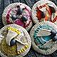 """Броши ручной работы. Брошь вязаная """"Аквамарине"""". MYUq - crochet jeweller&accessories (MYUq). Ярмарка Мастеров. Пальто, Ткачество, brooch, вязаные"""