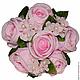 Свадебные цветы ручной работы. Ярмарка Мастеров - ручная работа. Купить Букет роз свадебный с бусинками и гортензией. Handmade.