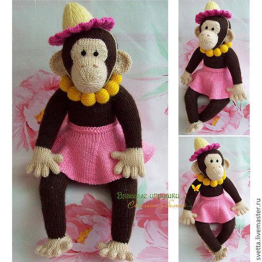 """Игрушки животные, ручной работы. Ярмарка Мастеров - ручная работа. Купить """"Цирковая Обезьянка"""" вязаная игрушка. Handmade. Игрушка, обезьяна"""