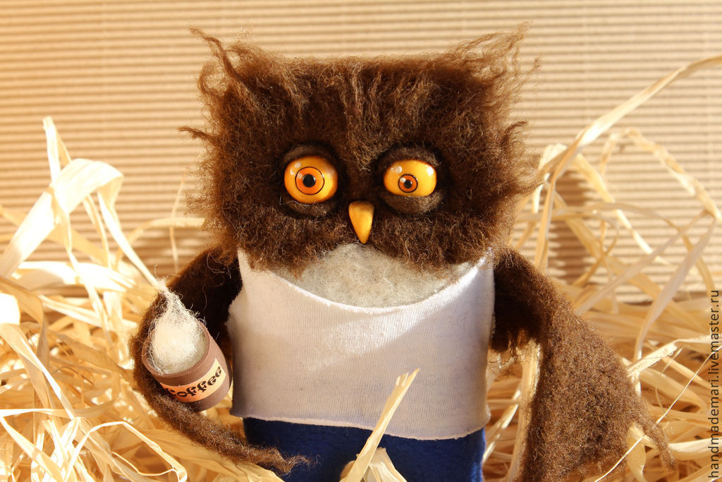 Owl rough morning toy, Stuffed Toys, Moscow,  Фото №1