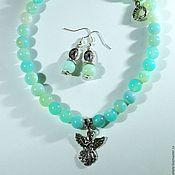 Фен-шуй и эзотерика handmade. Livemaster - original item Jewelry set made of natural stones agate