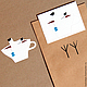 """Открытки и скрапбукинг ручной работы. Ярмарка Мастеров - ручная работа. Купить наклейка """"чайка чая"""". Handmade. Наклейка, Скрапбукинг, белый"""