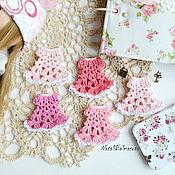 Материалы для творчества handmade. Livemaster - original item Mini dress crochet scrapbook works and miniatures. Handmade.