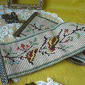 Сонетка / Гобелен, винтажная, антикварная, старинная вышивка, Австрия