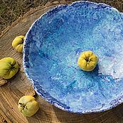 Посуда ручной работы. Ярмарка Мастеров - ручная работа керамическое блюдо Морское. Handmade.
