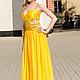 Платья ручной работы. Жёлтое платье. Екатерина. Ярмарка Мастеров. Вечернее платье
