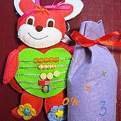 Куклы и игрушки ручной работы. Ярмарка Мастеров - ручная работа Зайка 2 в 1: Развивайка и Математик. Handmade.