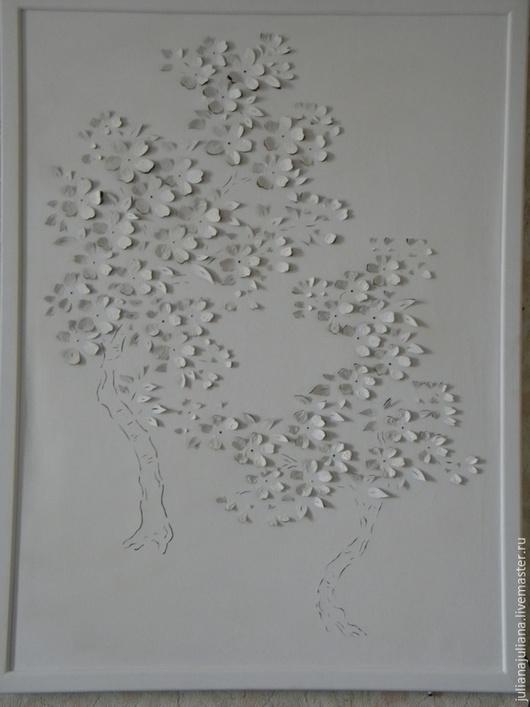 Детская ручной работы. Ярмарка Мастеров - ручная работа. Купить цветы сакуры. Handmade. Белый, ткань, картина, освещение, свет