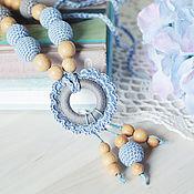 Одежда ручной работы. Ярмарка Мастеров - ручная работа Слингобусы голубые с кулоном-цветком. Handmade.