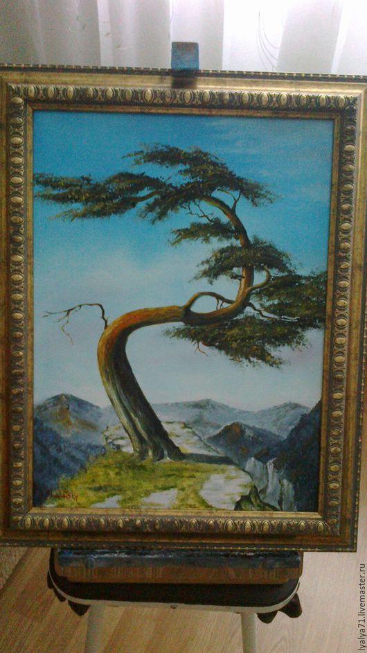 Пейзаж ручной работы. Ярмарка Мастеров - ручная работа. Купить Бансай. Handmade. Комбинированный, япония, медитация, горный пейзаж, одиночество