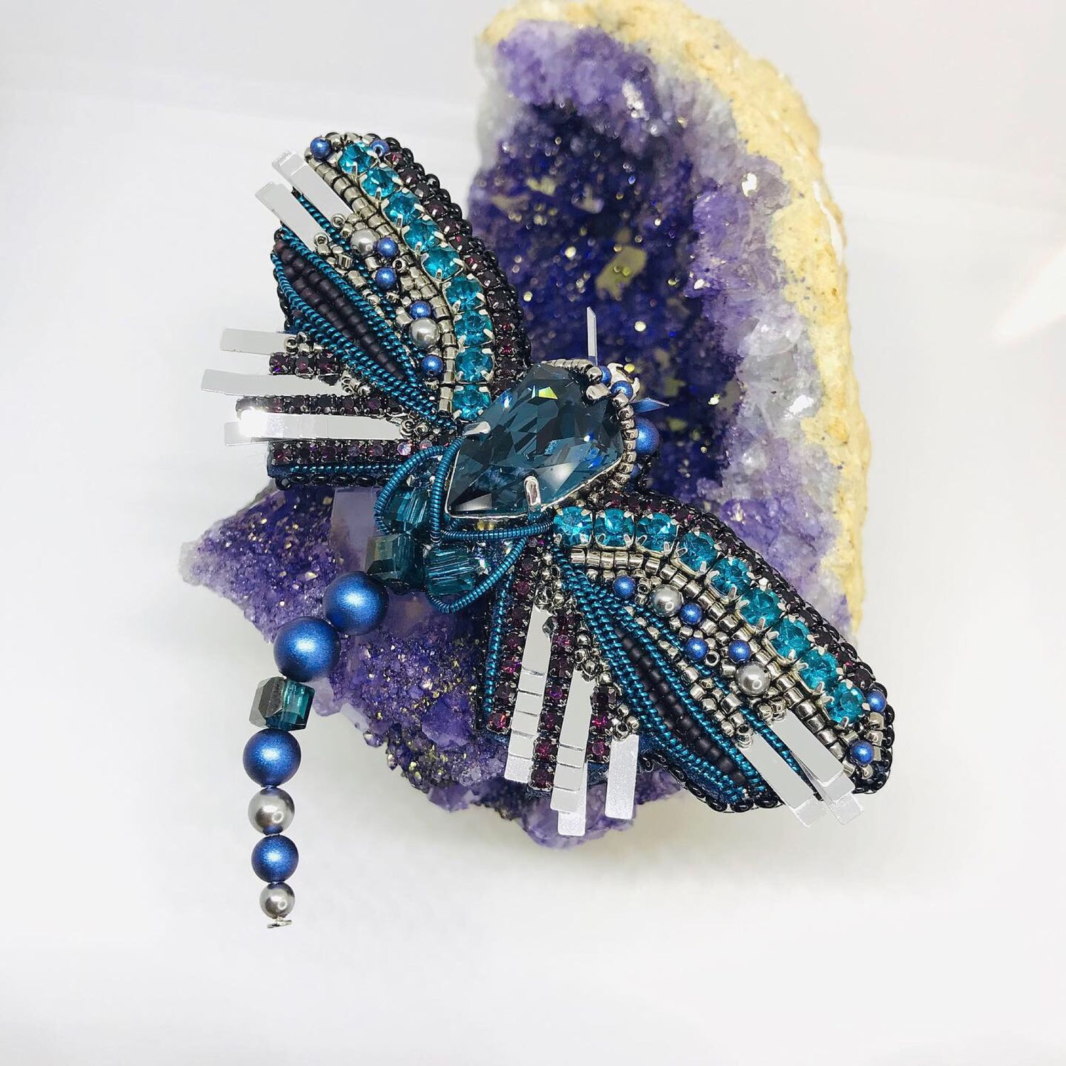 Brooch 'Dragonfly', Brooches, Moscow,  Фото №1