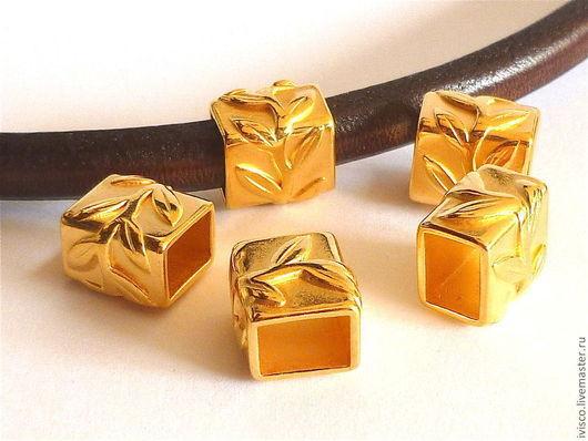 Для украшений ручной работы. Ярмарка Мастеров - ручная работа. Купить Бусина оливковая ветвь для Regaliz 10х6мм. Handmade. Золотой