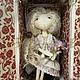 Коллекционные куклы ручной работы. текстильная кукла Адель. коваль наталья (45nata). Интернет-магазин Ярмарка Мастеров. Авторская кукла