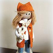 Куклы и игрушки ручной работы. Ярмарка Мастеров - ручная работа Девочка - лисичка с зайчиком. Handmade.