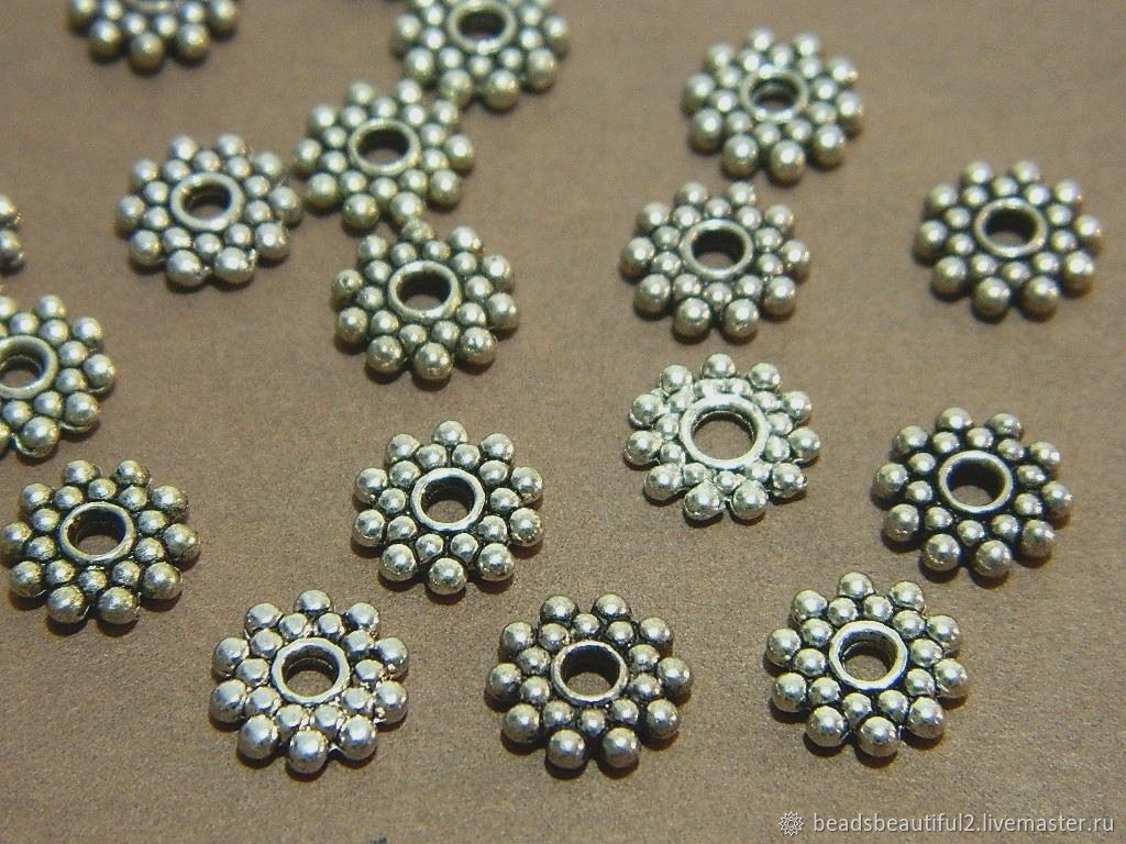 Separators for beads, for jewelry, 8 mm. 10 PCs, Accessories for jewelry, Saratov,  Фото №1