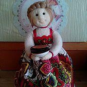 Куклы и игрушки ручной работы. Ярмарка Мастеров - ручная работа Кукла масленница с блинами. Handmade.