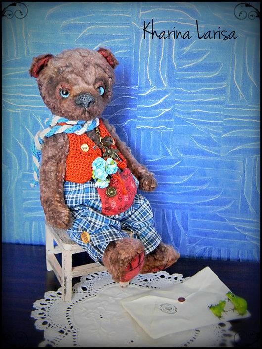 Мишки Тедди ручной работы. Ярмарка Мастеров - ручная работа. Купить Мишка Берни (Bernie). Handmade. Коричневый, харина лариса