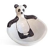 """Посуда ручной работы. Ярмарка Мастеров - ручная работа Пиала """"Расслабленная панда"""". Handmade."""