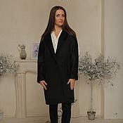 Одежда handmade. Livemaster - original item Black coat AMODAY (coat cashmere and wool). Handmade.
