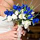 """Свадебные цветы ручной работы. Свадебный букет """" Ирисы"""". Студия Sun Flower. Ярмарка Мастеров. Невеста, юлия sundeco"""