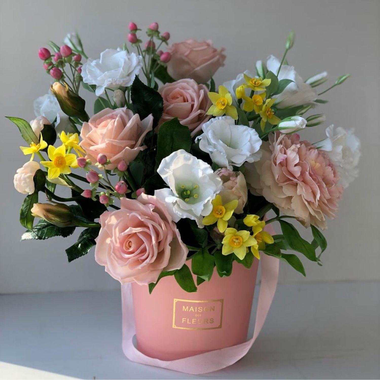 Цветы в коробке, Цветы, Москва, Фото №1