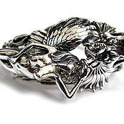 Фаланговое кольцо ручной работы. Ярмарка Мастеров - ручная работа Браслет из серебра War of Passions AZB-021S. Handmade.