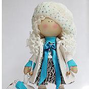 Куклы и игрушки ручной работы. Ярмарка Мастеров - ручная работа Зима. Кукла текстильная. Большеногая девочка. Кудряшка Сьюзи (повтор). Handmade.