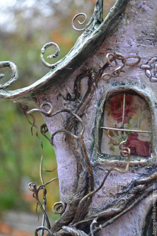 Освещение ручной работы. Ярмарка Мастеров - ручная работа. Купить Дом-ночник.. Handmade. Разноцветный, для дома и интерьера, проволока