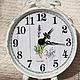 """Часы для дома ручной работы. Часы """"Лавандовое утро"""". Александра Балашова. Ярмарка Мастеров. Часы с лавандой, часы-будильник, грунт"""