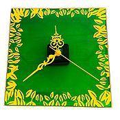Для дома и интерьера ручной работы. Ярмарка Мастеров - ручная работа Часы «Сочная зелень». Handmade.
