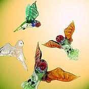 Подарки к праздникам ручной работы. Ярмарка Мастеров - ручная работа Интерьерное стеклянное украшение  -   птица Сова. Handmade.