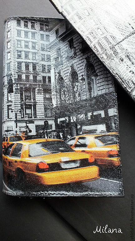 обложка, обложки, обложка для паспорта, обложки для паспорта, обложка для паспорта Нью йорк, обложка декупаж, обложки декупаж, обложка ручной работы, оригинальная обложка, купить обложку в Москве, красивая обложка