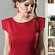 Платья ручной работы. Ярмарка Мастеров - ручная работа. Купить платье Cristallo rosso. Handmade. Ярко-красный, Коктейльное платье