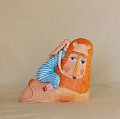 """Для дома и интерьера ручной работы. Ярмарка Мастеров - ручная работа Скульптура """"Мой лев"""". Handmade."""