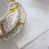 """Для дома и интерьера ручной работы. Ярмарка Мастеров - ручная работа """"Классический стиль"""" льняная скатерть с мережкой. Handmade."""