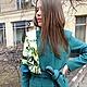 Верхняя одежда ручной работы. Ярмарка Мастеров - ручная работа. Купить Пальто Malachite 2. Handmade. Зеленый, пальто, кашемир