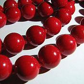 Материалы для творчества handmade. Livemaster - original item Bead, coral 10mm solid ball, smooth. Handmade.