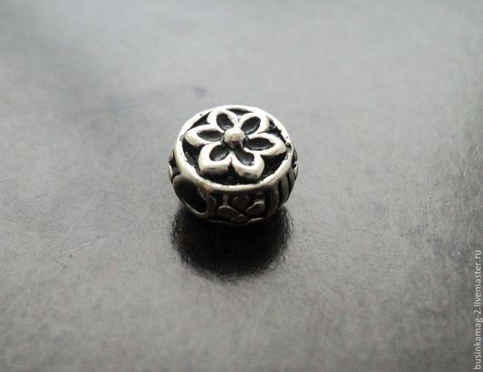 Для украшений ручной работы. Ярмарка Мастеров - ручная работа. Купить Бусины таблетки серебро 925 проба, 8мм. Handmade.